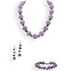 (4 Pc) Vintage Beaded Amethyst Necklace