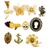 (10 Pc) Vintage Brooch Collection