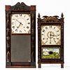 Two Connecticut Wooden Movement Shelf Clocks
