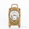 French Miniature Brass Table Clock