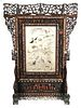 Chinese Framed Silk Embroidery Screen