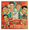 Rare 1948 Baseball Chesterfield Cigarette Poster