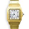 Cartier Santos Galbee 18k Gold Watch