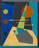 Emil Bisttram (American, 1895-1976) Abstraction, 1941