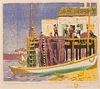 Gustave Baumann (American/German, 1881-1971) Mending the Seine, 1917