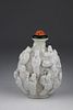 "Chinese Jiaqing Period ""18 Lohan"" Snuff Bottle"
