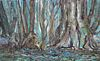 Florida Swamp with Alligator Painting