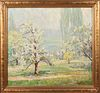"Carl Hoerman ""Spring Landscape"" Oil on Canvas"