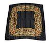 Chanel Silk Scarf with Chain & Jewel Motif