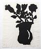"Donald Baechler ""Flower"" Ink on Paper Print"