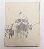 """Jim Dine Attributed """"Self Portrait"""" Graphite"""