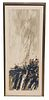 Seong Moy (Chinese/American 1929-2013) Woodcut