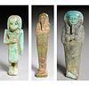 (3) Ancient Egyptian faience Ushabti, ex-museum
