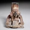 Pre-Columbian pottery figural incensario, ex-Komor