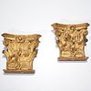 Pair Italian Baroque giltwood brackets