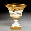 Empire bronze mounted porcelain centerpiece basket