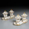 Dihl et Guerhard, pair double lidded containers
