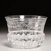 Antique Baccarat engraved glass bowl