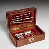 "Rare Victorian ""gun box"" travelling writing set"