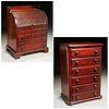 English & American miniature cabinet and desk