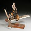 American Folk Art bicyclist whirligig