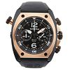 BELL & ROSS CHRONOGRAPH. STEEL AND 18K PINK GOLD. REF. BR 02-94