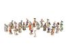 A Meissen Porcelain Twenty-Two Piece Monkey Band Height of first figure 4 inches.