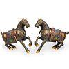 Pair of Cloisonne Horses