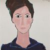 GLORIA VANDERBILT, (American, 1924-2019), Gerta, 1964, oil on canvas, 30 x 30 in., House of Heydenryk frame: 41 x 41 in.