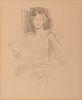JOHN SINGER SARGENT, (American, 1856-1925), Preparatory Sketch: Grace Elvina, Marchioness Curzon of Kedleston, 1924, pencil on paper, sheet: 10 3/4 x