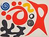 ALEXANDER CALDER, (American, 1898-1976), Plancton (Plankton), lithograph in colors, sheet: 22 1/2 x 30 1/1 in., frame: 32 1/4x 39 1/2 in.