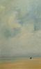 ANNE PACKARD, (American, b. 1933), Lone Boat, 2001, oil on canvas, 60 x 36 in., frame: 65 1/2 x 41 1/2 in.