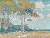 JOE DUNCAN GLEASON, (American, 1881-1959), El Capitan Park, oil on board, 13 x 16 in., frame: 18 x 21 1/2 in.