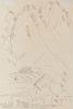 MARSDEN HARTLEY, (American, 1877-1943), Mountain Landscape, Garmisch-Partenkirchen, 1933, pencil on paper, 10 x 7 in., frame: 12 1/4 x 9 1/4 in.