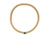 14K Gold, Emerald, and Diamond Necklace