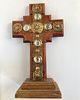 Mid-Century Continental Standing Wood Cross
