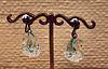 Lalique Glass Swan Clip Earrings