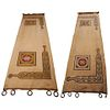Arts & Crafts Reversible Portiere Archway Curtains