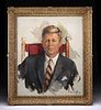 Framed William Draper John F. Kennedy Portrait, 1962