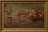 "Karl Charly Strobl (1900-1969, Austrian), ""Venetian Canal Scene,"" 20th c., oil on canvas, signed lower right, presented in an ornate..."