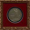 "After Jean Bertrand Andrieu (1761-1822), Large Sterling Medallion of Napoleon, 1811, ""Bapteme du Roi de Rome,"" the edge stamped ""Arg..."