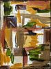 """Margaret Orr (New Orleans), """"Abstract,"""" 20th c., oil on canvas, signed lower right, gallery wrapped, H.- 24 in., W.- 18 in."""
