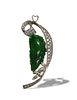 Jade Pendant with 18K White Gold and Diamond Setting