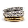 18k Gold Two Tone and Diamond Ring