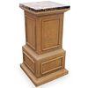 Restoration Hardware Wooden Pedestal Base