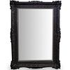 Palace Sized Black Lacquered Framed Mirror