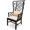 Reticulated Wingback Wooden Chair