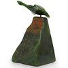 Hand Carved Green Jade Bird