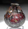 "Spectacular Roman ""Splashed"" Glass Aryballos"
