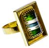 18k Gold and Semi-Precious Gemstone Ring